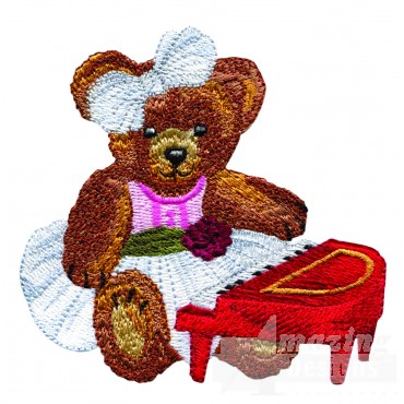 Swnbear131 Piano Bear Embroidery Design