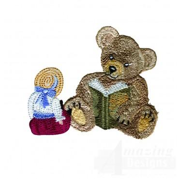 Swnbear133 Bedtime Story Bear Embroidery Design