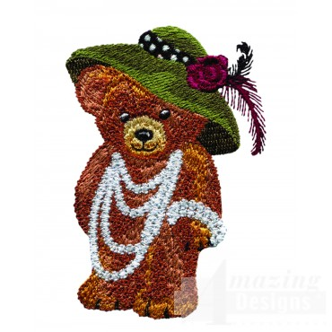 Swnbear135 Dressed Up Bear Embroidery Design