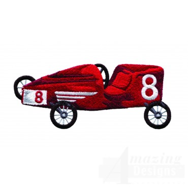 Swnbear140 Race Car Embroidery Design