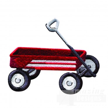 Swnbear143 Red Wagon Embroidery Design