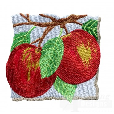 Apples On The Tree Embroidery Design