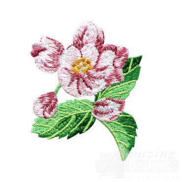 Apple Blossom Embroidery Design