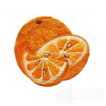 Sliced Orange Embroidery Design