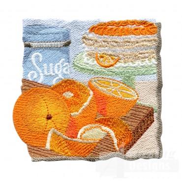 Orange Pie Embroidery Design