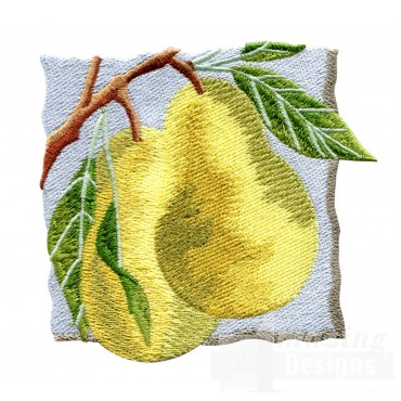 Pears On The Tree Embroidery Design
