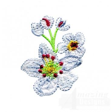 Pear Blossom Embroidery Design