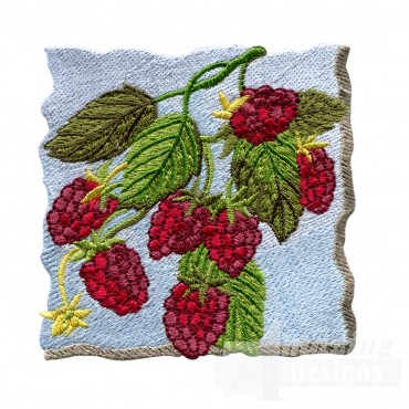 Raspberries On The Bush Embroidery Design