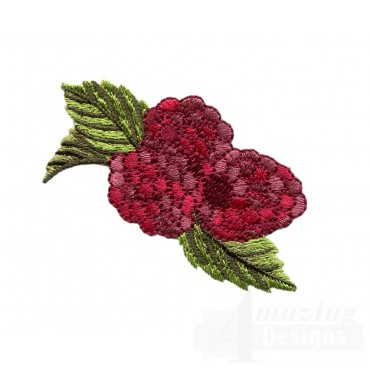 Raspberry Bunch Embroidery Design