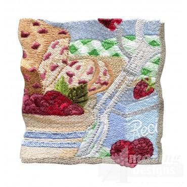 Raspberry Bread Embroidery Design