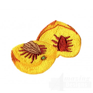 Sliced Peaches Embroidery Design
