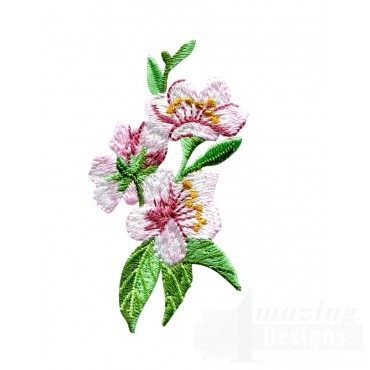 Peach Blossom Embroidery Design