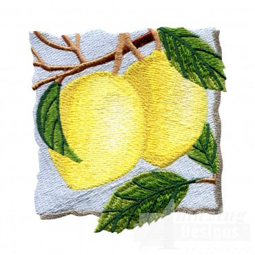 Lemons On The Tree Embroidery Design