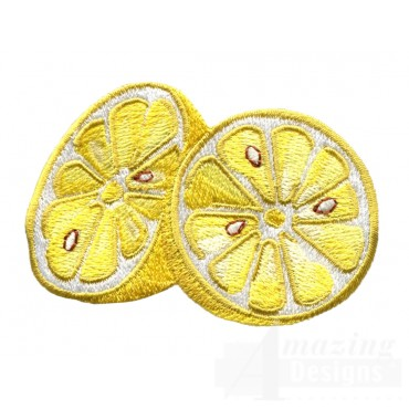 Sliced Lemons  Embroidery Design