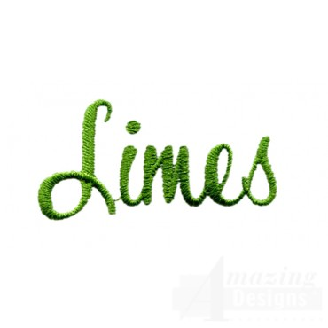 Limes Word Embroidery Design