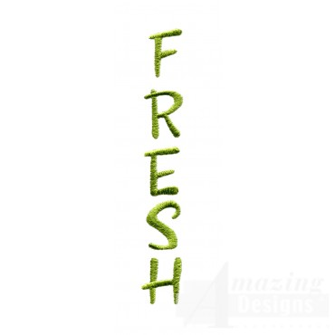 Fresh Word Embroidery Design