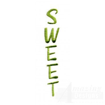 Sweet Word Embroidery Design