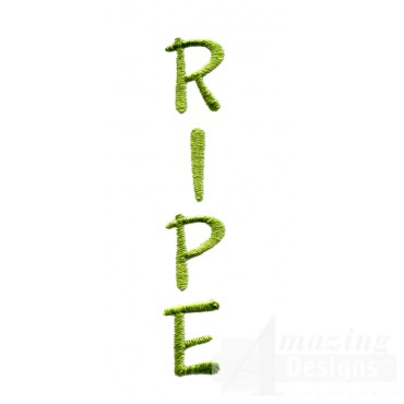 Ripe Word Embroidery Design