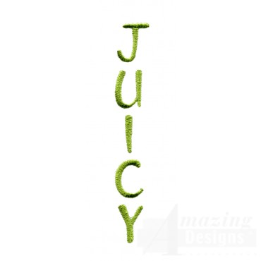 Juicy Word Embroidery Design