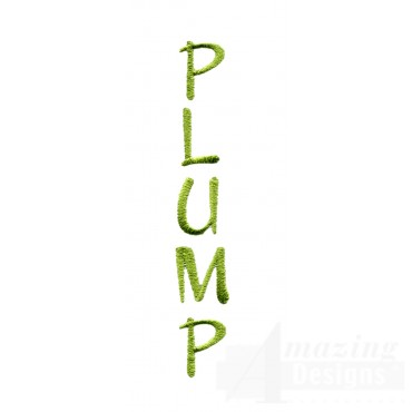 Plump Word Embroidery Design