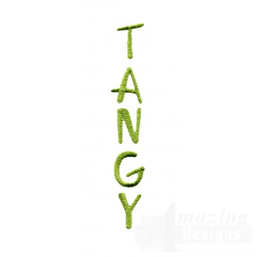 Tangy Word Embroidery Design