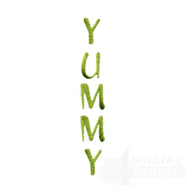 Yummy Word Embroidery Design