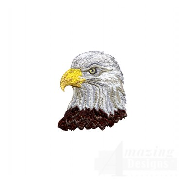 Bald Eagle Head 3 Embroidery Design