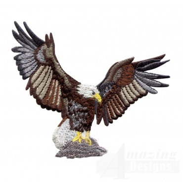 Landing Eagle Embroidery Design