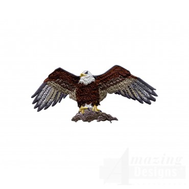 Perched Eagle 2 Embroidery Design
