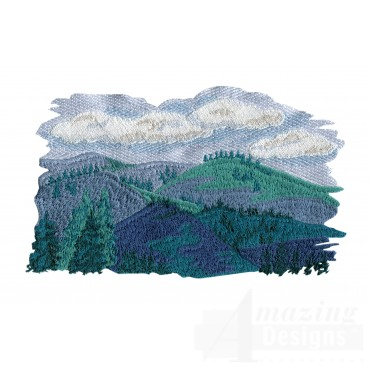 Rolling Hills 1 Embroidery Design
