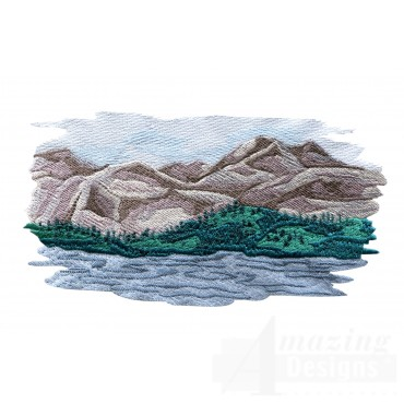 Mountain Scene 2 Embroidery Design