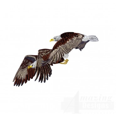 Flying Eagle Pair Embroidery Design