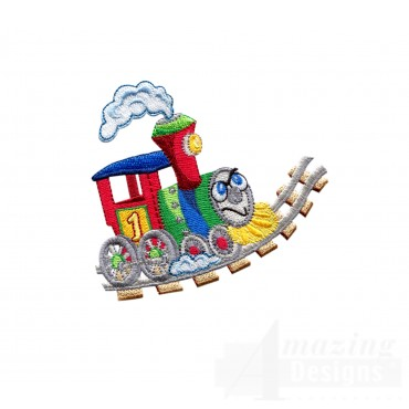 Choo Choo Train 2 Embroidery Design