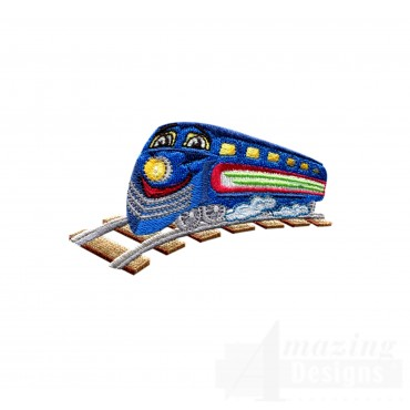 Choo Choo Train 3 Embroidery Design