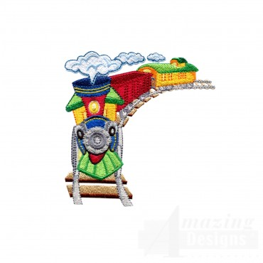 Choo Choo Train 4 Embroidery Design