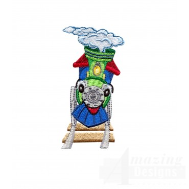 Choo Choo Train 8 Embroidery Design