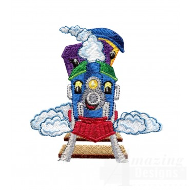 Choo Choo Train 10 Embroidery Design