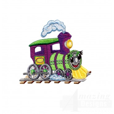 Choo Choo Train 12 Embroidery Design