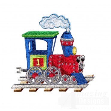 Choo Choo Train 13 Embroidery Design