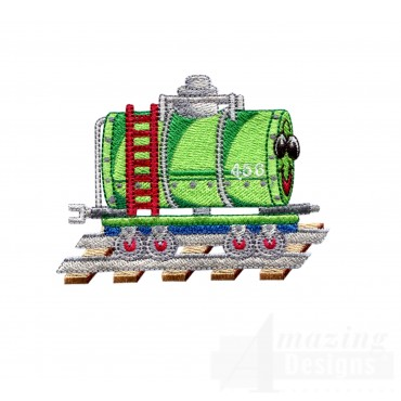 Tanker Car Embroidery Design