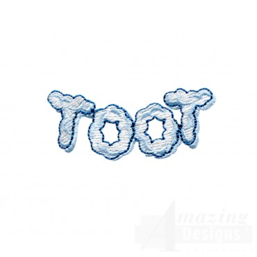 Toot Embroidery Design