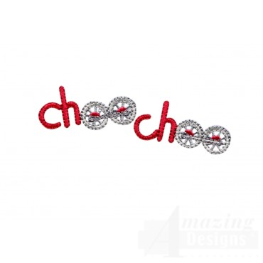 Choo Choo Words Embroidery Design