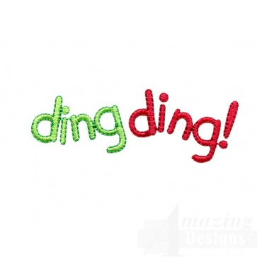 Ding Ding Words Embroidery Design