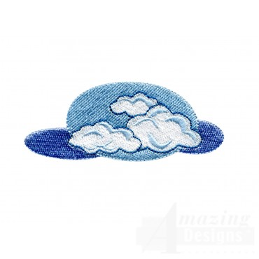 Sky And Clouds Embroidery Design