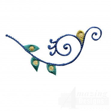 Swnpa102 Feather Scroll Embroidery Design