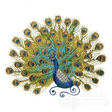 Swnpa126 Peacock Embroidery Design