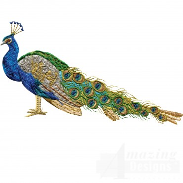 Swnpa127 Peacock Embroidery Design