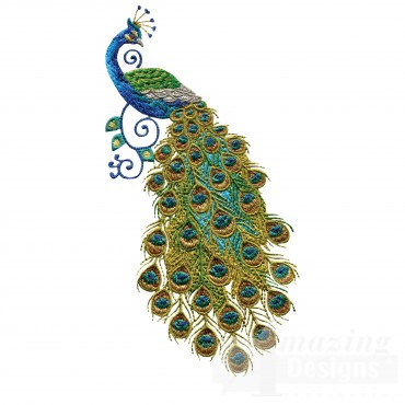 Swnpa128 Peacock Embroidery Design