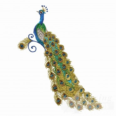 Swnpa129 Peacock Embroidery Design