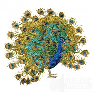 Swnpa130 Peacock Embroidery Design